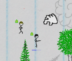 There WIll Be Ink - Stick figure battles, grabby mode